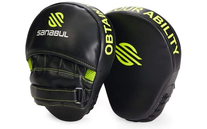 2 Sanabul Essential Curved Boxing MMA Punching Mitts