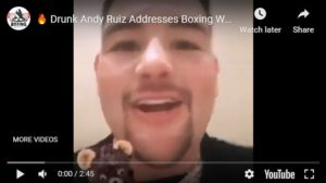 Drunk Andy Ruiz Jnr Mansion Party With White Powder On The Table
