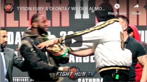 WATCH: Explosive Tyson Fury V Deontay Wilder Face Off Gets Heated Quickly