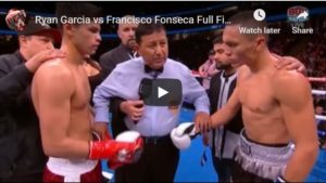 WATCH: Ryan Garcia Blasts Fonseca In 1st Round - Lines Up Gervonta Davis Fight