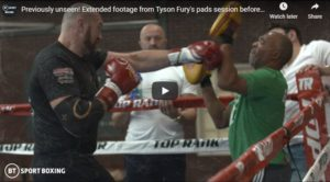 WATCH: Tyson Fury Southpaw Padwork With Sugar Hill Throws Wilder Off