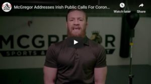 Conor McGregor Urges Irish Government To Lockdown The Country