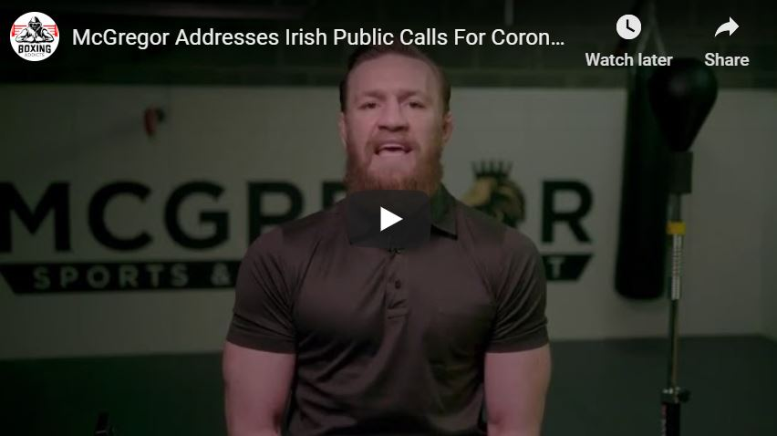 McGregor Calls For Lockdown