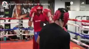 WATCH: Ryan Garcia Gets Beat Up In Sparring - By Rolanda Romero