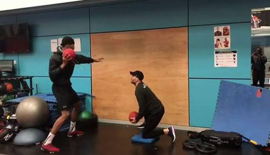 Joshua Med Ball Slams